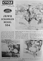 Road test Jawa 554 in Cycle 1959